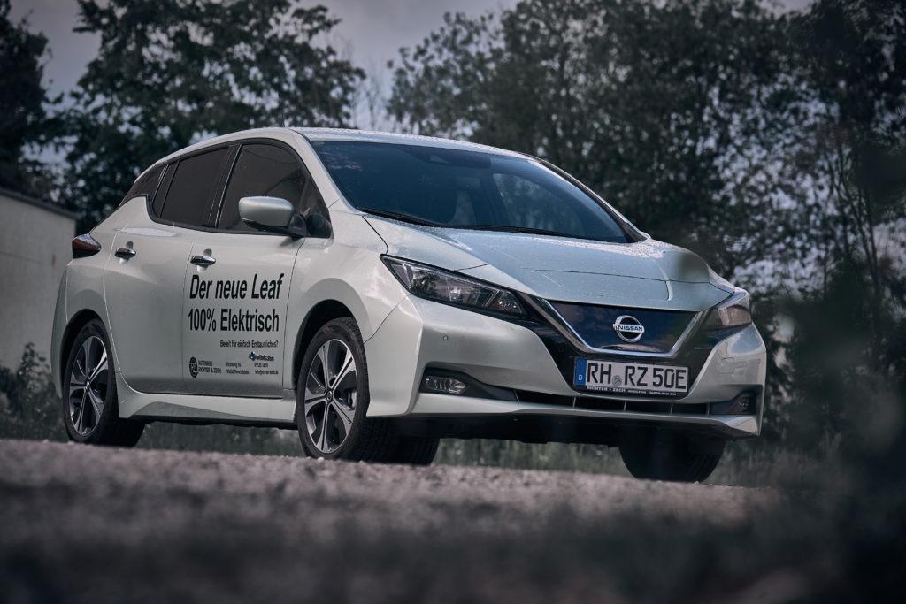 Nissan Leaf Grün